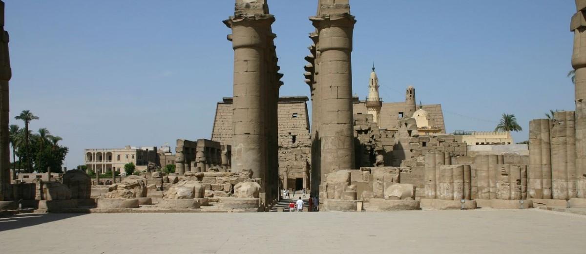Muslimanska đamija u dijelu hramskog kompleksa Luksor