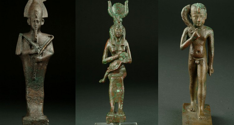 Oziris, Izida i Horus